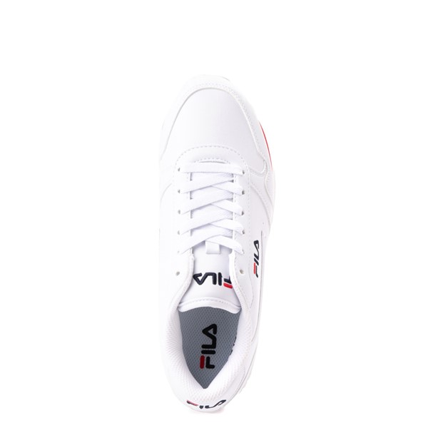 alternate view Womens Fila Orbit Stripe Athletic Shoe - White / Navy / RedALT4B
