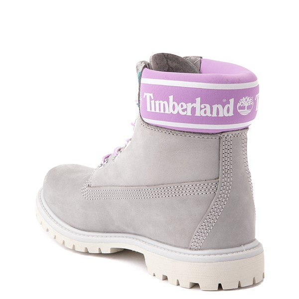 "alternate view Womens Timberland 6"" Premium Boot - Gray / PinkALT1"