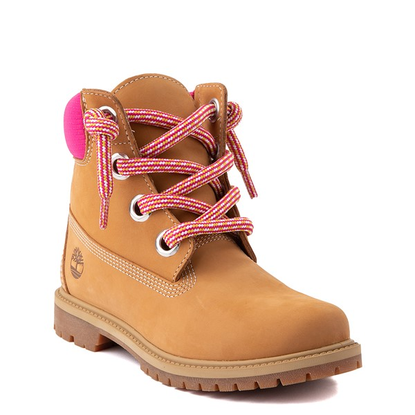 "alternate view Womens Timberland 6"" Premium Boot - Wheat / PinkALT1"