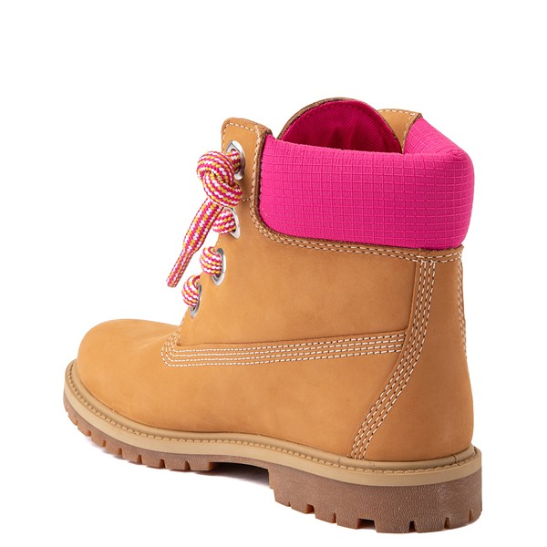 "alternate view Womens Timberland 6"" Premium Boot - Wheat / PinkALT2"