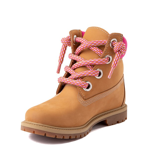 "alternate view Womens Timberland 6"" Premium Boot - Wheat / PinkALT3"