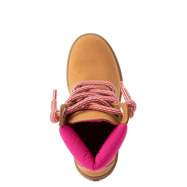 "alternate view Womens Timberland 6"" Premium Boot - Wheat / PinkALT4B"