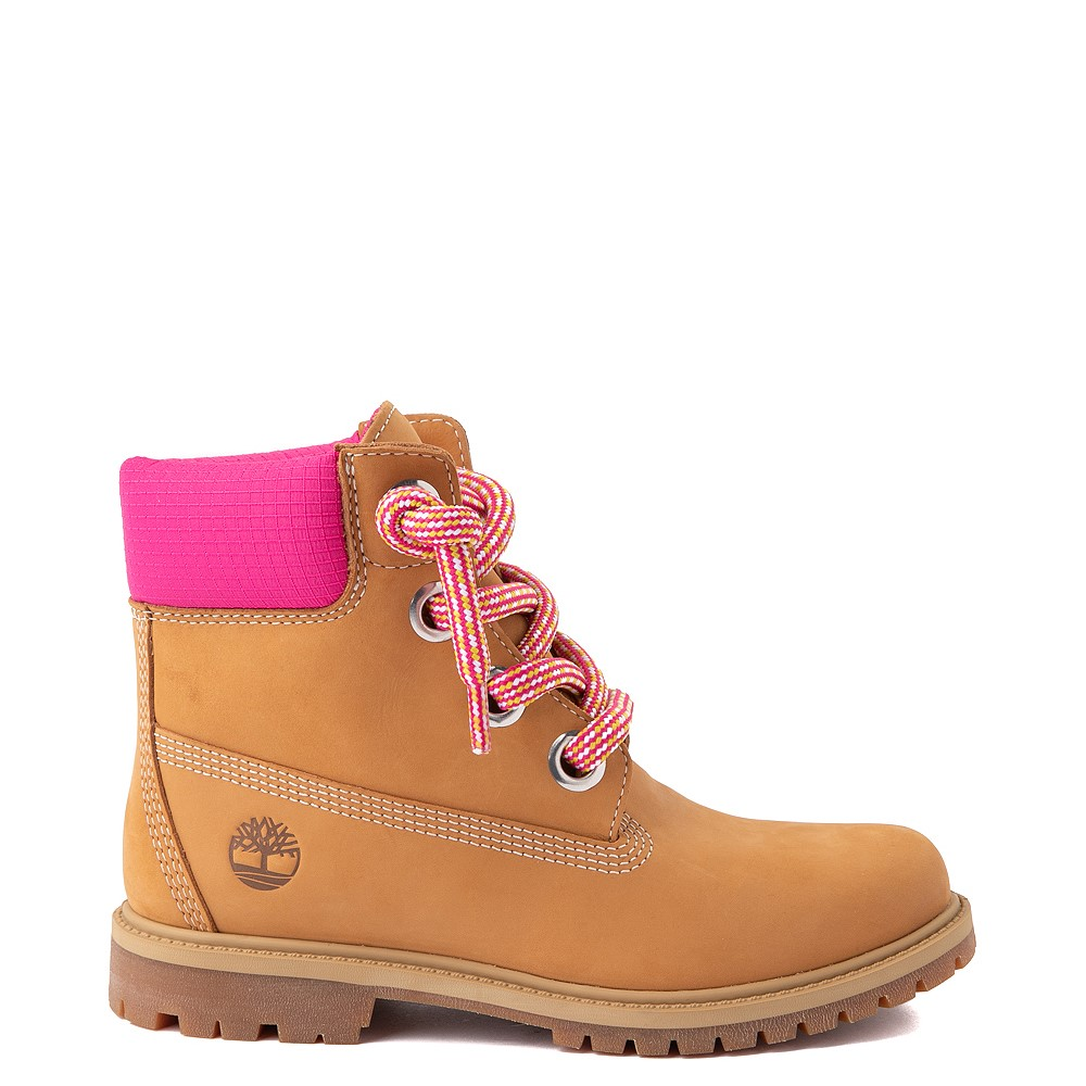 "Womens Timberland 6"" Premium Boot - Wheat / Pink"
