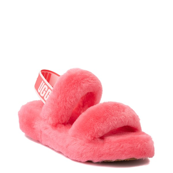 alternate view Womens UGG® Oh Yeah Slide Sandal - StrawberryALT5