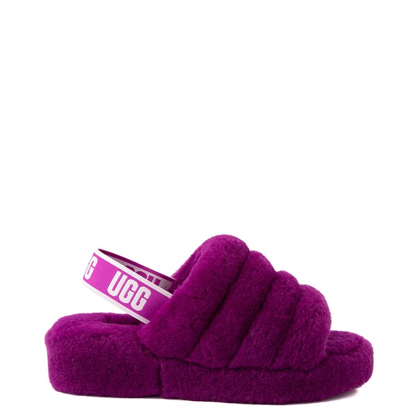 Main view of Womens UGG® Fluff Yeah Slide Sandal - Berrylicious