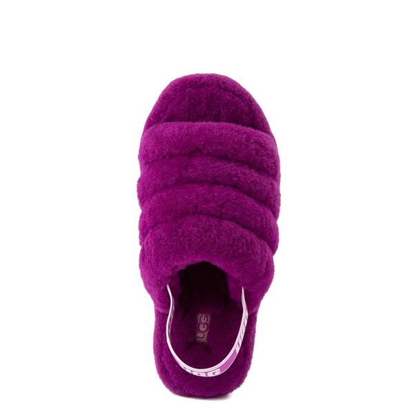 alternate view Womens UGG® Fluff Yeah Slide Sandal - BerryliciousALT2