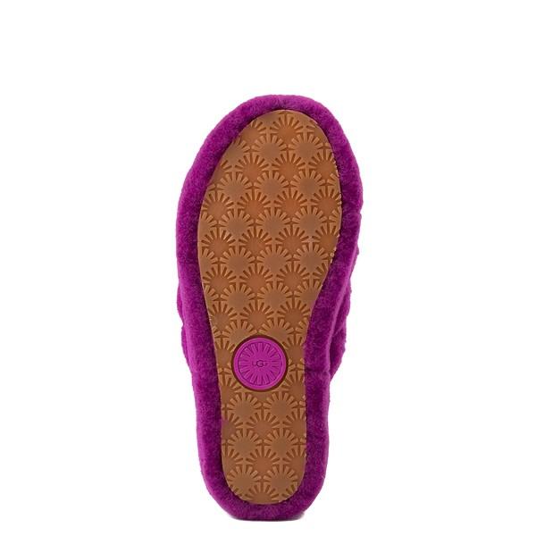 alternate view Womens UGG® Fluff Yeah Slide Sandal - BerryliciousALT3