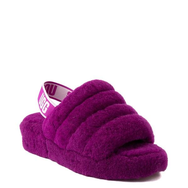 alternate view Womens UGG® Fluff Yeah Slide Sandal - BerryliciousALT5