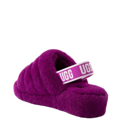 Alternate view of Womens UGG® Fluff Yeah Slide Sandal - Berrylicious
