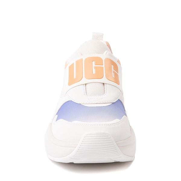 alternate view Womens UGG® LA Flex Slip On Sneaker - White / Scallop GradientALT4