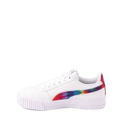 Alternate view of Puma Carina Athletic Shoe - Little Kid / Big Kid - White / Tie Dye