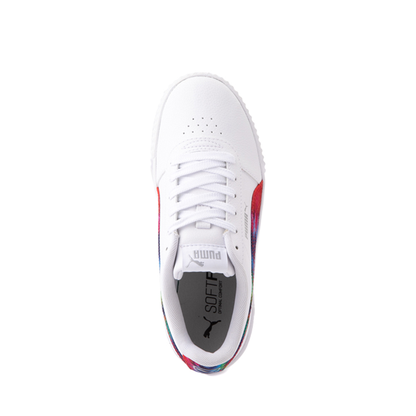 alternate view Puma Carina Athletic Shoe - Big Kid - White / Tie DyeALT2