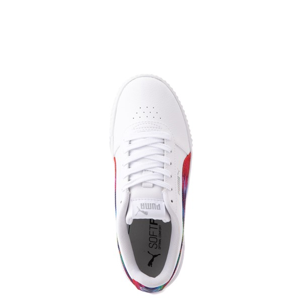 alternate view Puma Carina Athletic Shoe - Big Kid - White / Tie DyeALT4B