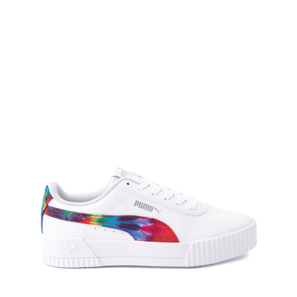 Puma Carina Athletic Shoe - Big Kid - White / Tie Dye