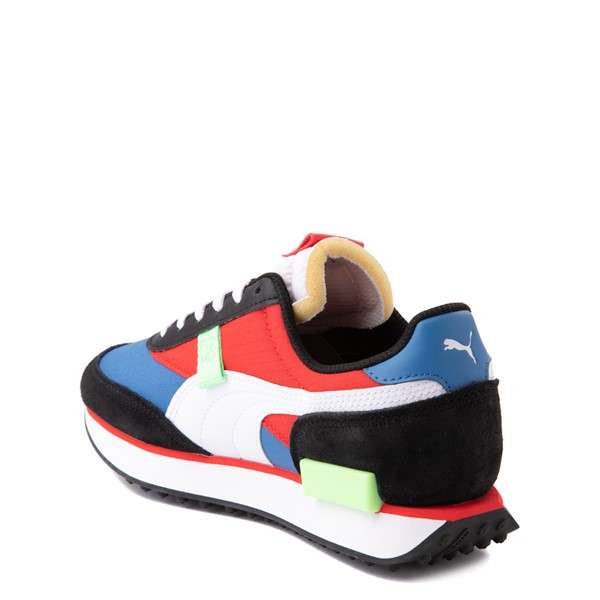 alternate view Puma Future Rider Play On Athletic Shoe - Big Kid - Black / Blue / Red / GreenALT1