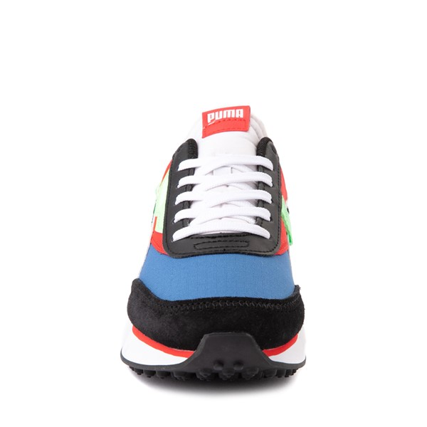 alternate view Puma Future Rider Play On Athletic Shoe - Big Kid - Black / Blue / Red / GreenALT4