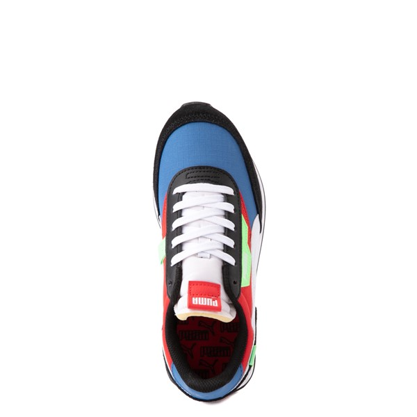 alternate view Puma Future Rider Play On Athletic Shoe - Big Kid - Black / Blue / Red / GreenALT4B