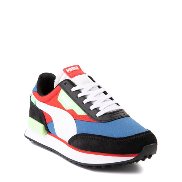 alternate view Puma Future Rider Play On Athletic Shoe - Big Kid - Black / Blue / Red / GreenALT5