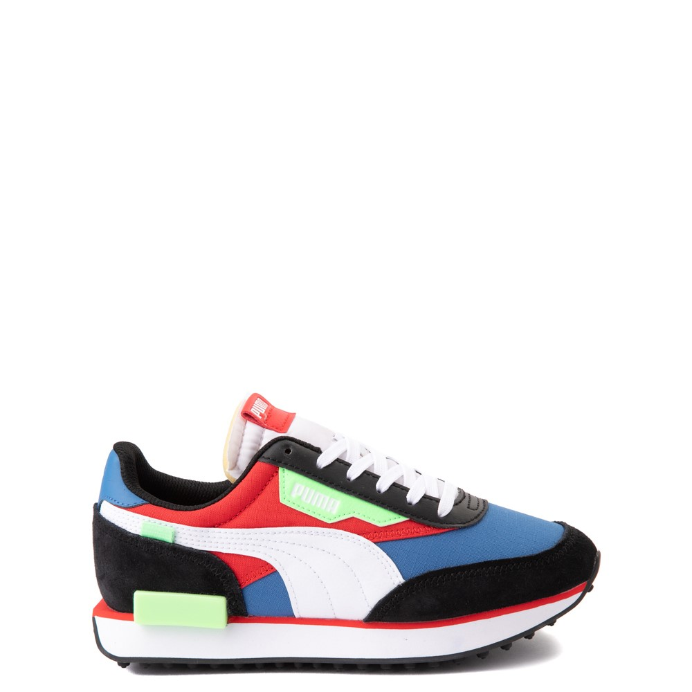 Puma Future Rider Play On Athletic Shoe - Big Kid - Black / Blue / Red / Green