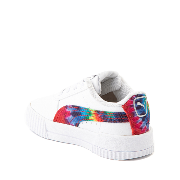 alternate view Puma Carina Athletic Shoe - Baby / Toddler - White / Tie DyeALT1