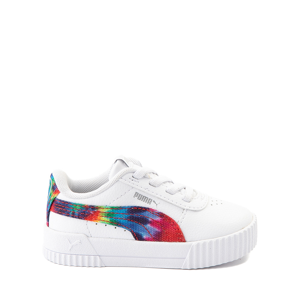 Puma Carina Athletic Shoe - Baby / Toddler - White / Tie Dye