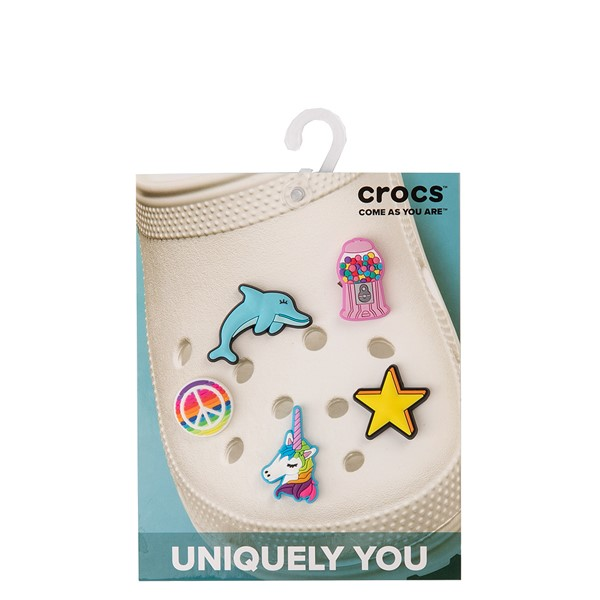 alternate view Crocs Jibbitz™ Girls Rule Shoe Charms 5 Pack - MulticolorALT2