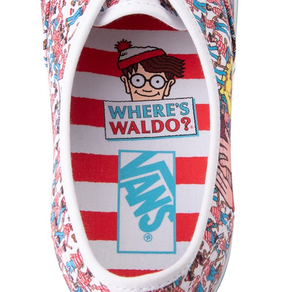 alternate view Vans x Where's Waldo Authentic Land Of Waldos Skate Shoe - White / RedALT2B