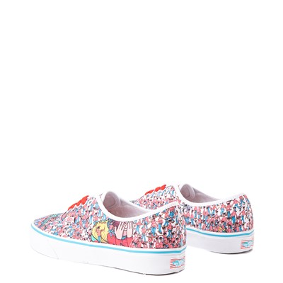 Alternate view of Vans x Where's Waldo Authentic Land Of Waldos Skate Shoe - White / Red