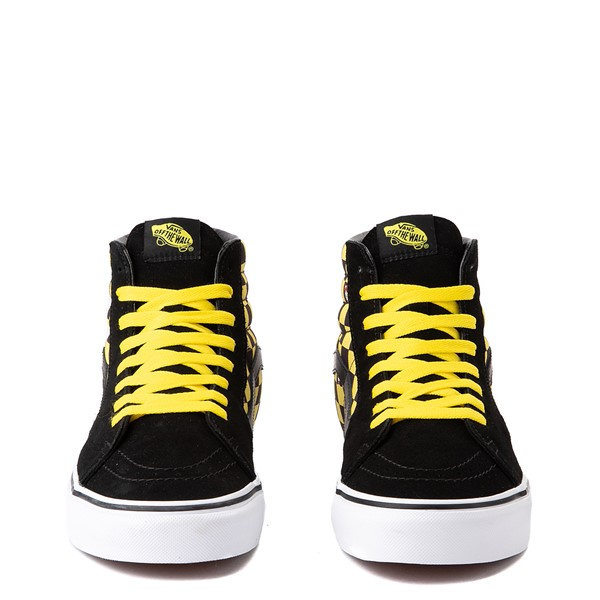 alternate view Vans x Where's Waldo Sk8 Hi Odlaw Checkerboard Skate Shoe - Black / YellowALT4