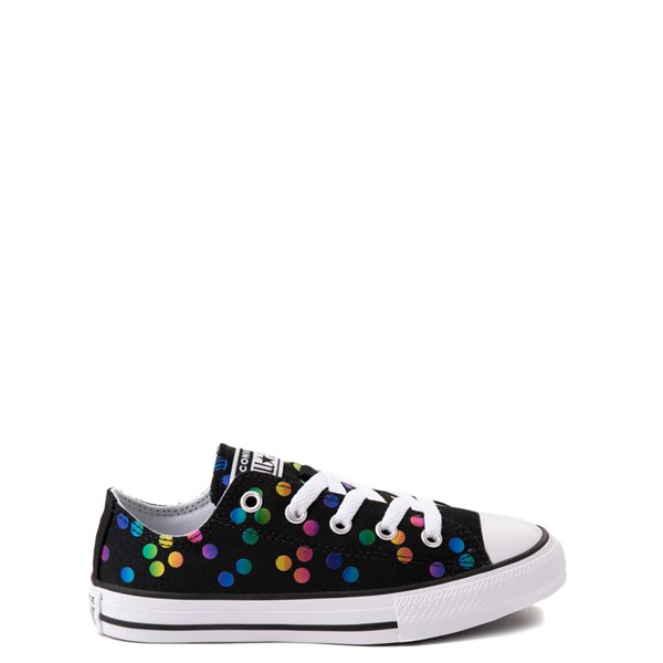 Converse Chuck Taylor All Star Lo Confetti Dots Sneaker - Little Kid / Big Kid - Black / Rainbow