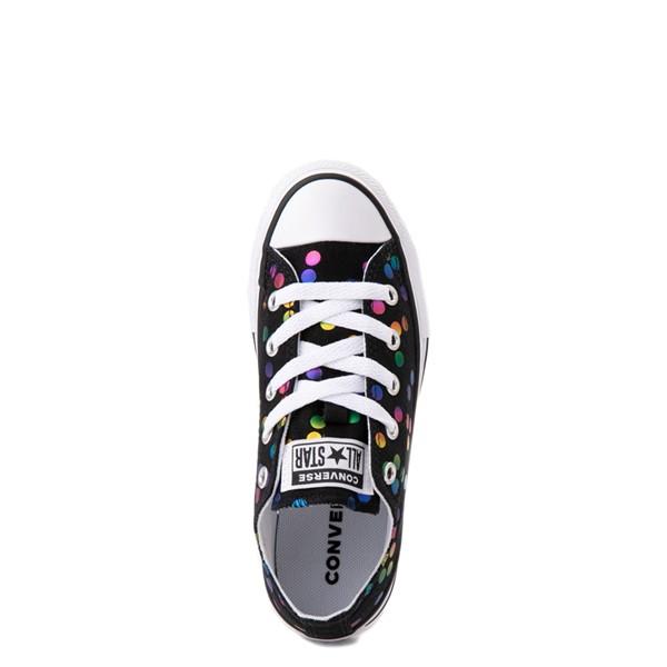 alternate view Converse Chuck Taylor All Star Lo Confetti Dots Sneaker - Little Kid / Big Kid - Black / RainbowALT4B