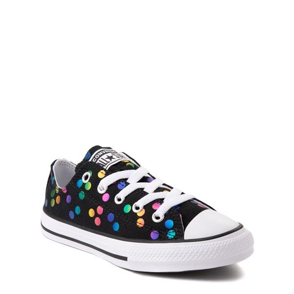 alternate view Converse Chuck Taylor All Star Lo Confetti Dots Sneaker - Little Kid / Big Kid - Black / RainbowALT5