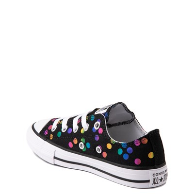 Alternate view of Converse Chuck Taylor All Star Lo Confetti Dots Sneaker - Little Kid / Big Kid - Black / Rainbow
