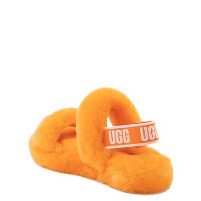 Alternate view of UGG® Oh Yeah Slide Sandal - Little Kid / Big Kid - California Poppy