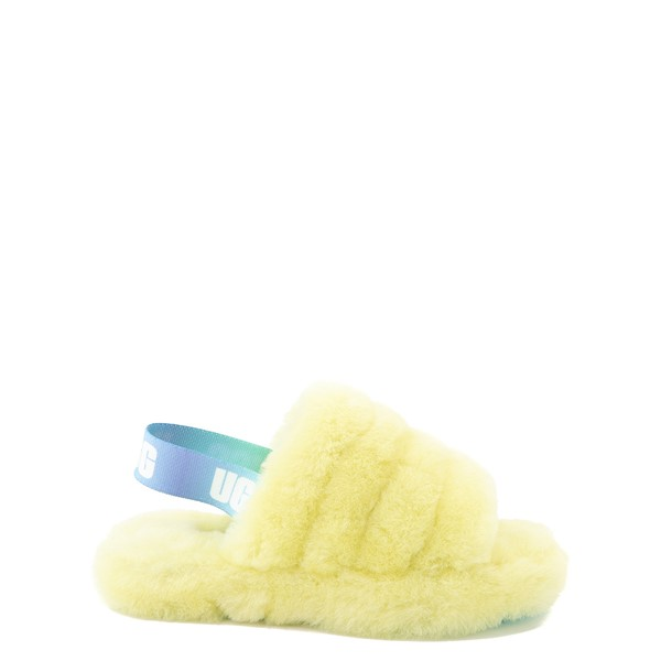 Main view of UGG® Fluff Yeah Slide Sandal - Little Kid / Big Kid - Pollen