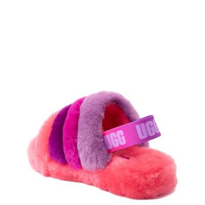 Alternate view of UGG® Fluff Yeah Slide Sandal - Little Kid / Big Kid - Pink / Purple Rainbow