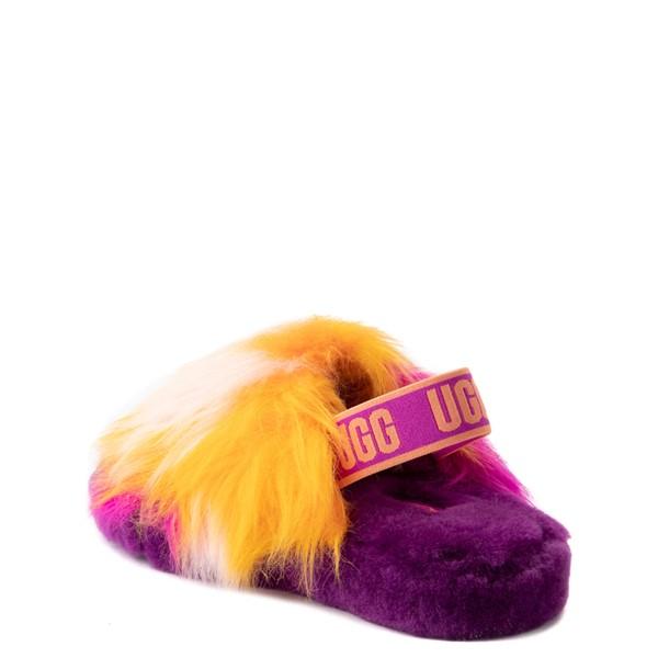 alternate view UGG® Fluff Yeah Slide Sandal - Little Kid / Big Kid - Berrylicious / Tie DyeALT1