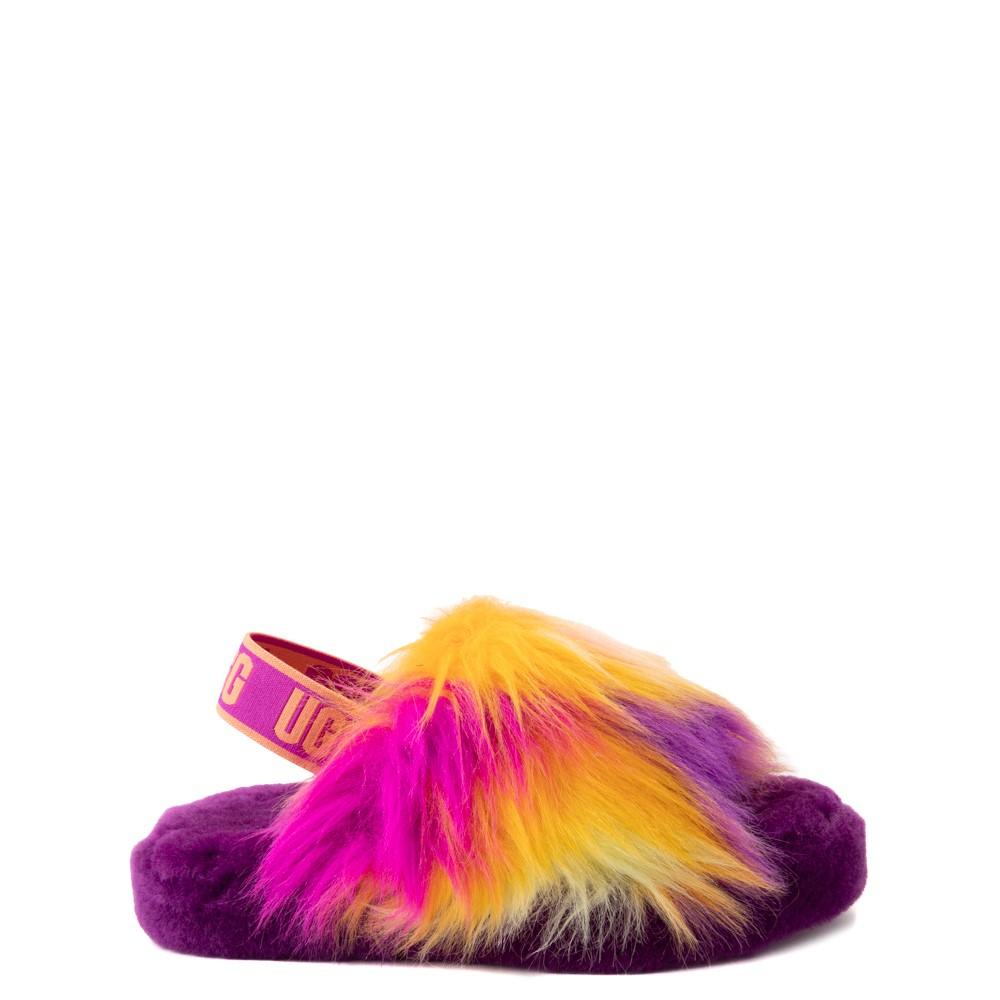 UGG® Fluff Yeah Slide Sandal - Little Kid / Big Kid - Berrylicious / Tie Dye