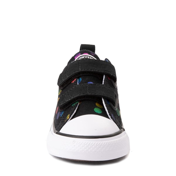 alternate view Converse Chuck Taylor All Star 2V Lo Confetti Dots Sneaker - Baby / Toddler - Black / RainbowALT4
