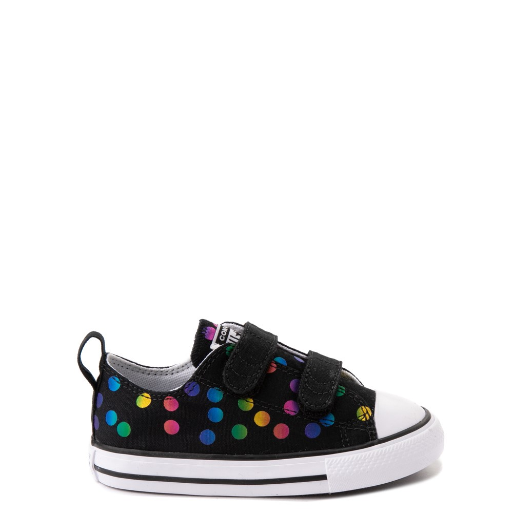 Converse Chuck Taylor All Star 2V Lo Confetti Dots Sneaker - Baby / Toddler - Black / Rainbow