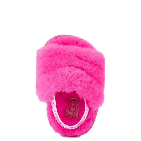 alternate view UGG® Fluff Yeah Slide Sandal - Baby / Toddler - Rock RoseALT2