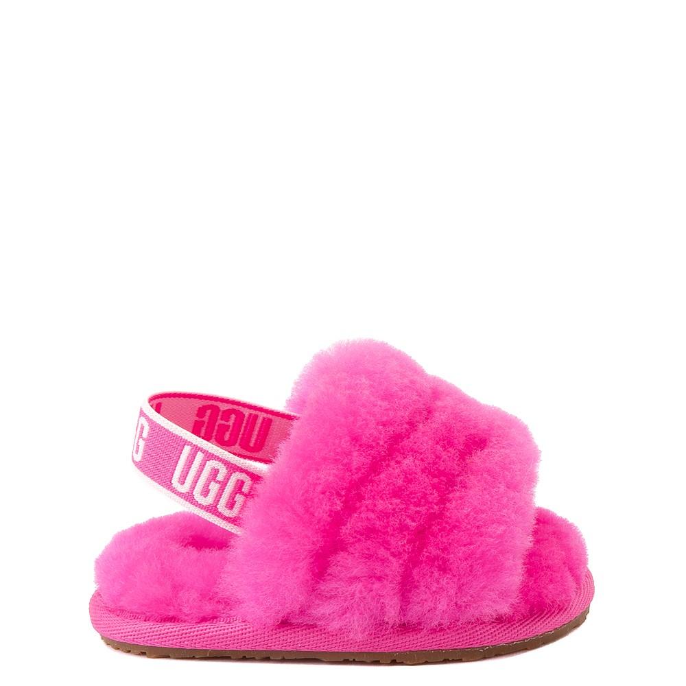 UGG® Fluff Yeah Slide Sandal - Baby / Toddler - Rock Rose