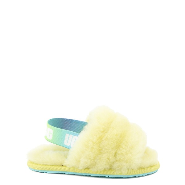Main view of UGG® Fluff Yeah Slide Sandal - Toddler / Little Kid - Pollen