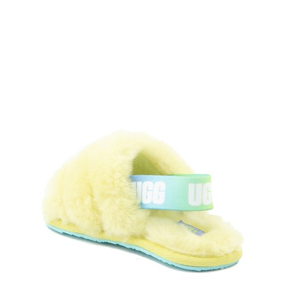 Alternate view of UGG® Fluff Yeah Slide Sandal - Toddler / Little Kid - Pollen