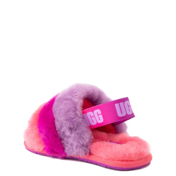 alternate view UGG® Fluff Yeah Slide Sandal - Toddler / Little Kid - Pink / Purple RainbowALT1