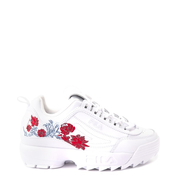 Main view of Womens Fila Disruptor 2 Floral Athletic Shoe - White