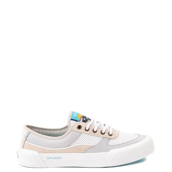 Main view of Womens Sperry Top-Sider Soletide Sneaker - White / Gray