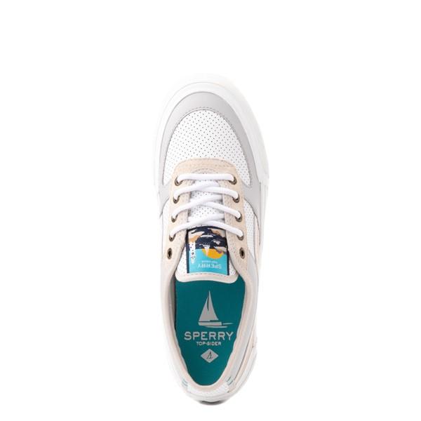 alternate view Womens Sperry Top-Sider Soletide Sneaker - White / GrayALT2