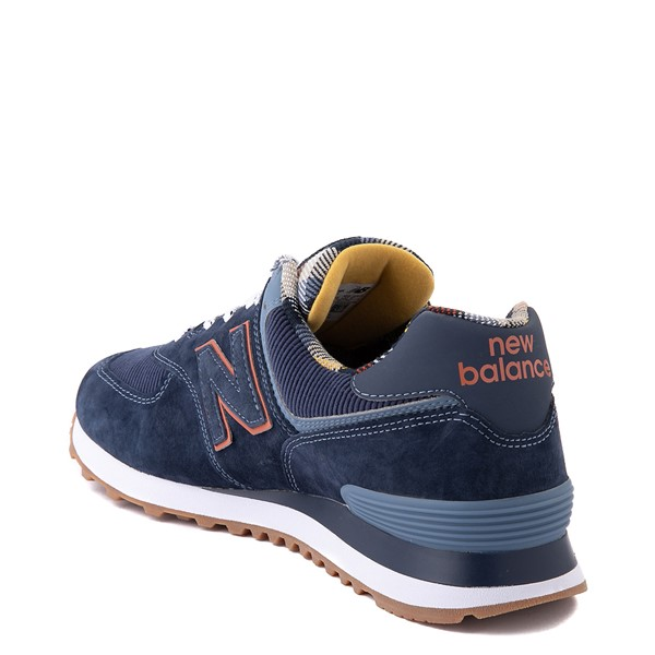 alternate view Mens New Balance 574 Athletic Shoe - Natural Indigo / PlaidALT1