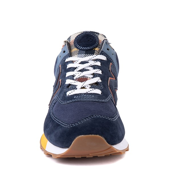 alternate view Mens New Balance 574 Athletic Shoe - Natural Indigo / PlaidALT4